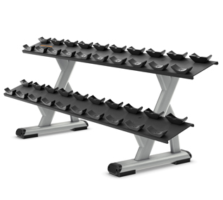 2 Tier 10 Pair Dumbbell Rack